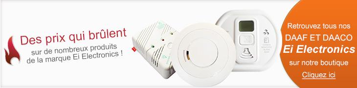 Détecteurs de fumée Ei Electronics, détecteurs de monoxyde de carbone Ei Electronics à petits prix sur detecteur-de-fumee.net
